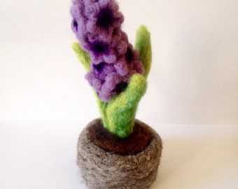 Felted Hyacinth Plant