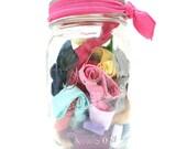 Hair Tie Gift in a Jar (30) BEST SELLER - Southern Prep Mason Jar Hair Ties - Emi Jay Like Hair Elastics - Bridesmaid, Maid of Honor Gift