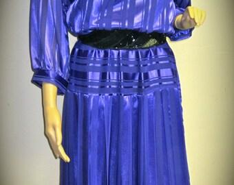 Vintage Royal Blue Party Dress