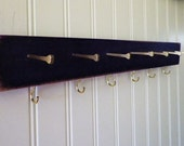 """Golden Highlights Jewelry Organizer/Necklace Hanger In 12"""", 16"""", 19"""" or 24"""". Choose Your Color. Bridal Shower or Anniversary Gift."""