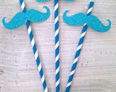 Mustache Party Straws -- Baby Shower / Wedding / Bridal Shower / New Years Eve Decorations /  Drink Stirrers / Decorative Straws