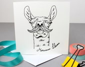 50% SALE - Monsieur Llama Greetings Card