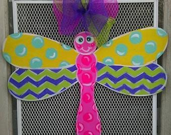 Dragonfly door hanger, Spring door hanger, Summer door hanger, Spring door decor, Spring door decor, Mother's Day