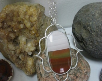Rare Imperial Jasper Necklaces, Moonstone Necklaces, Artisan Crafted necklaces & Jewelry, Metalsmith Jewelry and silver necklaces