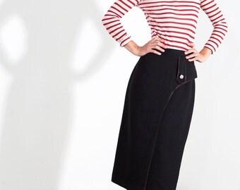 Long wool skirt