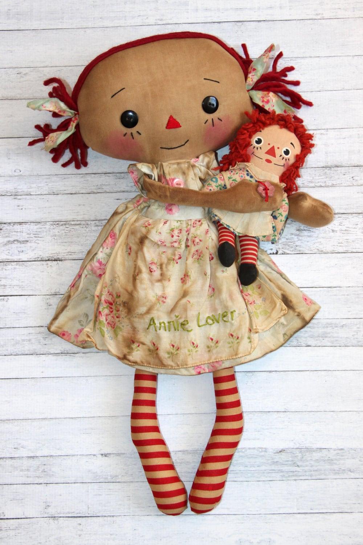 Annie Lover Raggedy Ann Doll Set Primitive Raggedy Ann Doll