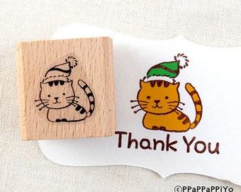 50% OFF SALE cute cat  Rubber Stamp