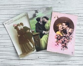 Love postcard collection, antique / vintage collectable postcards. Listing is for 1 Hand-coloured photographic postcards.