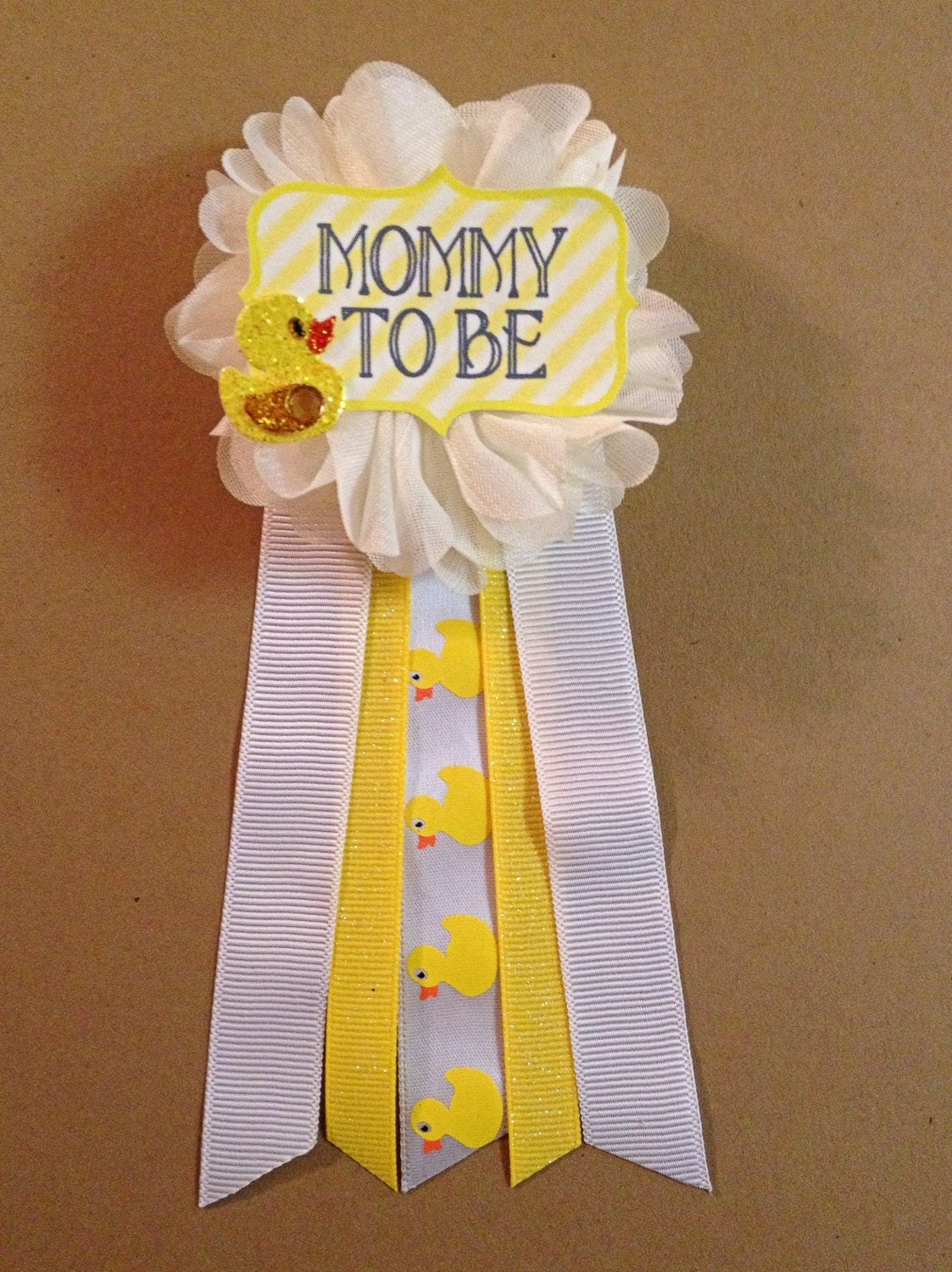 yellow ducky baby shower pin mommy to be pin baby shower pin