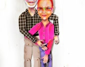 custom-made personalized paper doll(s) made to look like you