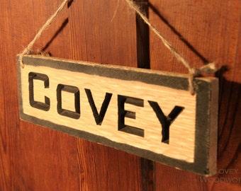 Custom Name Hanging Sign