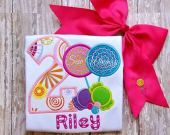 Candy theme party shirt and bow,  candy birthday, Lollipop shirt and bow