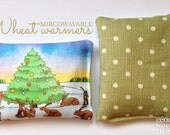 Wheat Warmer Bags Bunny Rabbit Christmas, Hand Warmers, Microwaveable Warmer, Heat Pad