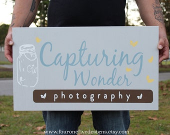Business Logo Sign, Custom Wood Sign, Photography Prop, Craft Show Display. Hand Painted Sign