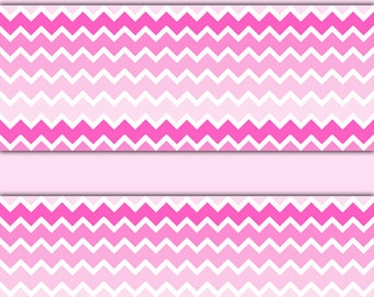 Mint And Pink Chevron Wallpaper PINK OMBRE CHEVRON Border Wall Decals Baby Girl Nursery