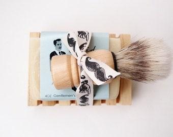 Shaving Kit, All Natural Mens Shaving Set, Groomsmen Gift, Mens Grooming Kit, Shaving Soap, Gifts for Him, Handmade Soap, Natural Soap