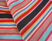 Peruvian Fabric, Andean Fabric, Woven, Tribal Arrows, 2 Yards
