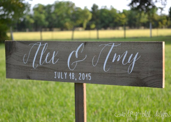 Wedding name sign calligraphy by