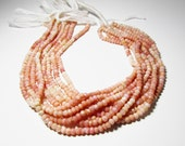 4mm -4.5mm Pink Opal Hand Faceted Rondelle Beads 4mm to 4.5mm