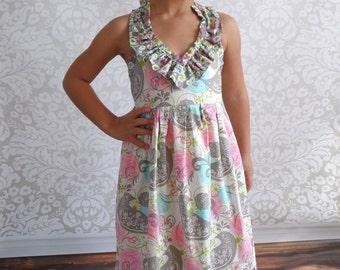 Girls Maxi Dress- Sizes 2T-10yrs