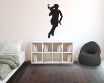 Girl Lacrosse Silhouette Sports - Wall Decal Custom Vinyl Art Stickers