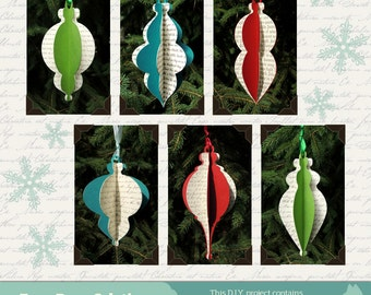 DIY Christmas Ornament Collection set of 12 Ornaments 2013