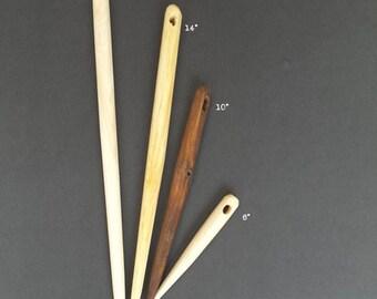 """Giant Wooden Needle - Wooden Needle - Six Inch Needle - 6"""" Wood Neelde"""