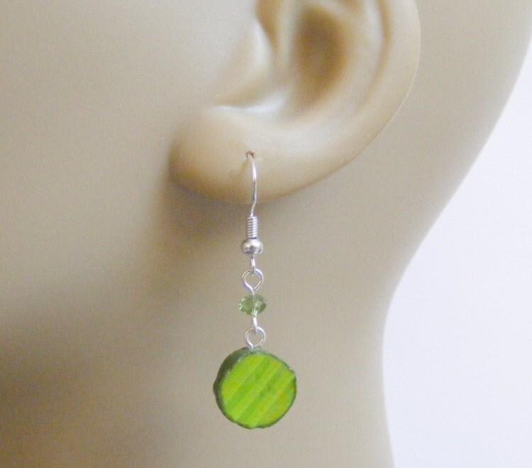 food jewelry pickle earrings dill pickle earrings by neateats