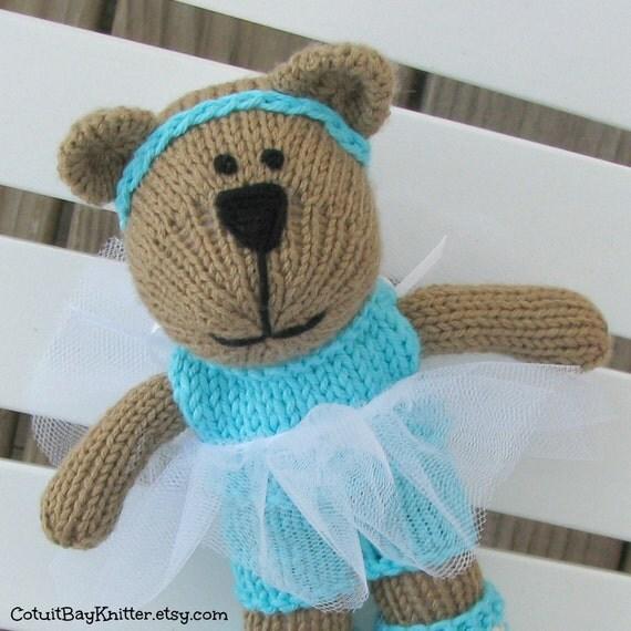 Knitted Bear Toy Ballerina - Plush Doll - Ballerina Bear - Stuffed Animal - Hand Knit Teddy Bear - Kids Toy - Small Toy - Children Toy Ava