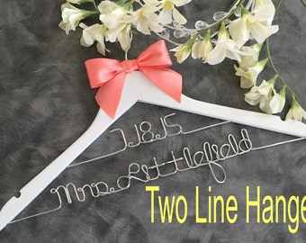 Wedding hanger/ SALE / personalized Bridal hanger/TWO Tier hanger / perfect bridal shower gift , u pick any name , bridal party gift