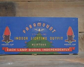 Vintage Christmas lights: Paramount light strand