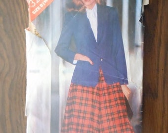 Butterick See & Sew Pattern 3285 Size B (14-16-18) - Misses Jacket and Skirt