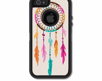 Skin FOR the OtterBox Defender Case for iPhone 5 or 5S - Tribal Aztec Dreamcatcher Design - Free Shipping OtterBox Case NOT included