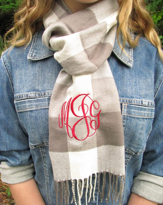 Knit Scarf - Personalized Winter Scarf with monogram