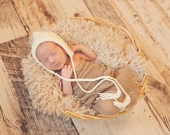 Baby Elf Hat Newborn Baby Boy Hat Newborn Baby Girl Hat Newborn Baby Hat Cream Pixie Elf Baby Hat Baby Bonnet Newborn Photo Prop Photography