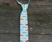 Boys Mustache Tie, Easter Mustache Neck Tie for Boys,  Baby Boys Necktie, Toddler Boys,  Easter Outfit, Birthday Cake Smash, Photo Prop