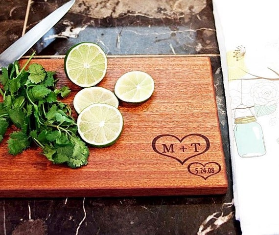 Etsy Wedding Gifts: Engraved Cutting Board Wedding Gift By NorCalWoodDesign On