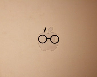 Harry Potter Inspired Decal - Glasses and Scar - iPhone, iPad, Macbook