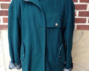 SALE Teal Wool Jacket //