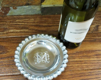 Monogram Wine Tray- House Warming Gift