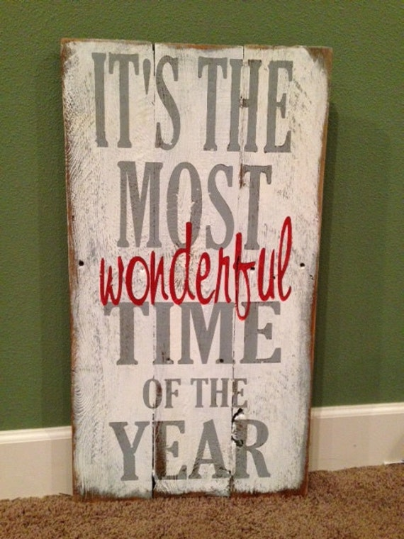Items Similar To Christmas Sign Its The Most Wonderful