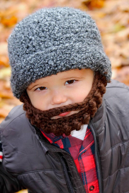 Crochet Pattern Mustache Hat : Crochet Mustache Beard Hat Toddler Child Teen or by ...