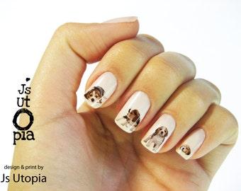 Beagle Nail Sticker / ネイルステッカー / 네일 스티커