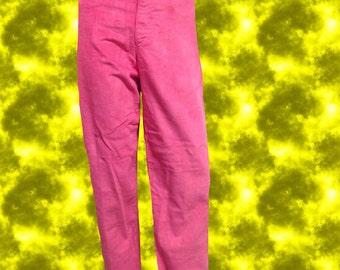 70s Neon Pink Corduroy Pants