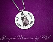 "Hand Stamped ""I've heard it both ways"" Psych Shawn and Gus inspired custom made necklace with pineapple charm"