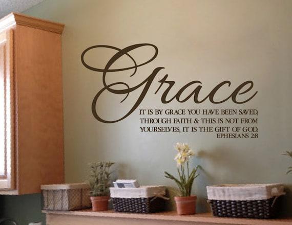 Ephesians 2 8 Saved By Grace Through Faith Scripture Wall Art