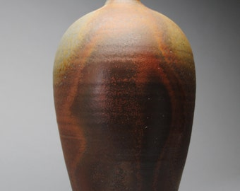 Reserved for Gunter Clay Wood Fired Bottle Handmade L80