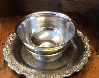 Ornate Serving Bowl with Plate