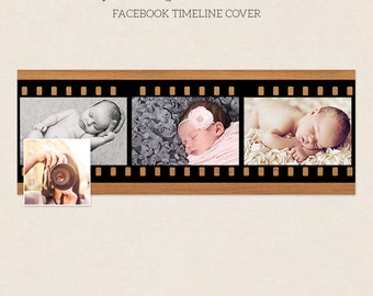 Facebook Timeline Cover - Facebook Timeline Template - PSD Template - Customize Facebook Page - Instant Download - F210