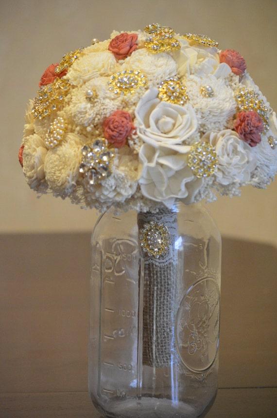 Custom X Large Wedding Bridal Bouquet Sola By StellaDesignsShop